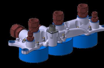 Boîtier d'électrovannes du moteur Prométheus (BEV)