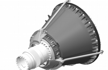 Front bearing supports for commercial turbofan engines