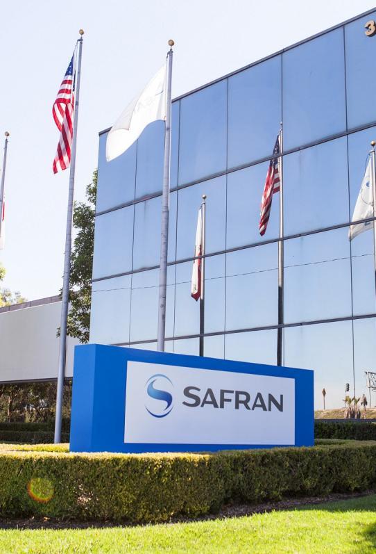 Exterior view of Safran Electronics & Defense Avionics Costa Mesa