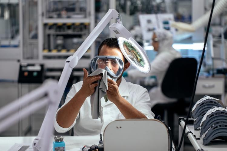 Control de calidad de una máscara de oxígeno