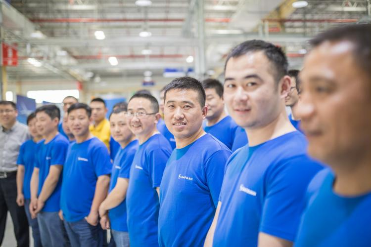 Safran Landing Systems Suzhou Assembly shop team