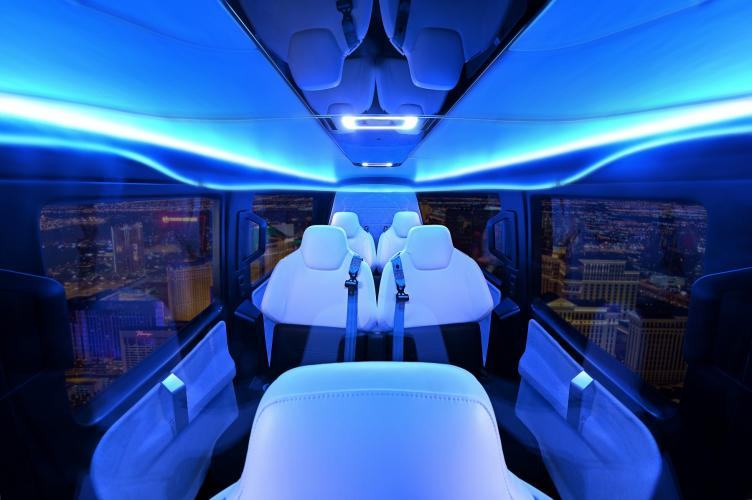 Safran and Uber unveil a full-scale cabin mockup based on a vision of on-demand urban air mobility vehicle