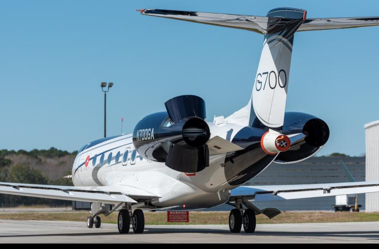 Gulfstream G700 first flight