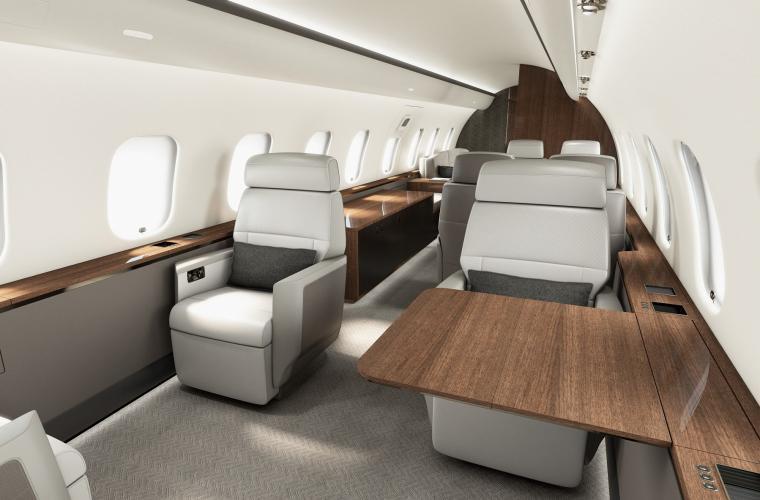 Business Jet Global 5000 Interior