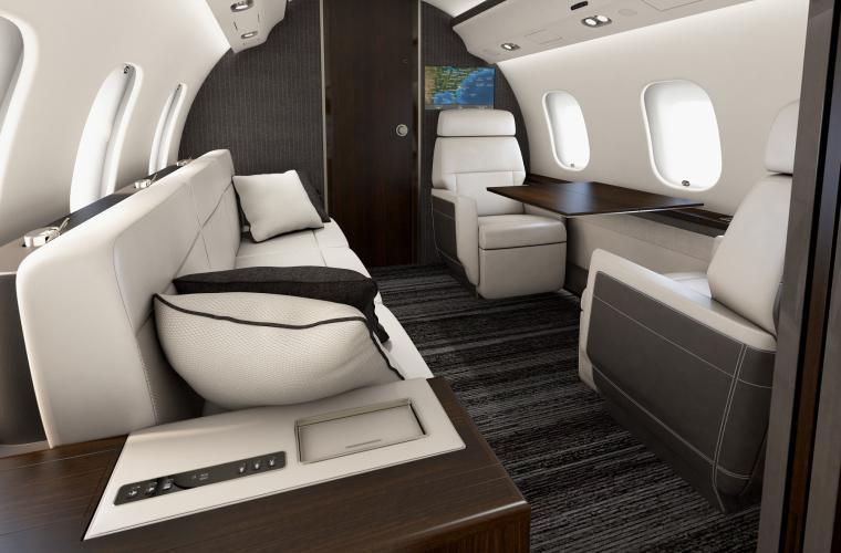 Business Jet Global 6000 Interior