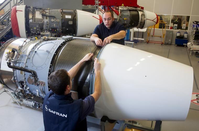 Integration of the nacelle of a Falcon 7X, Pratt & Whitney Canada