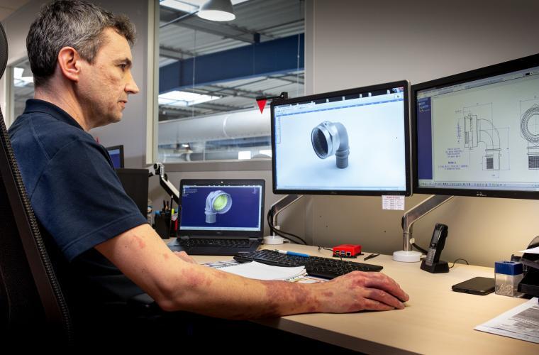 3D design for backshell