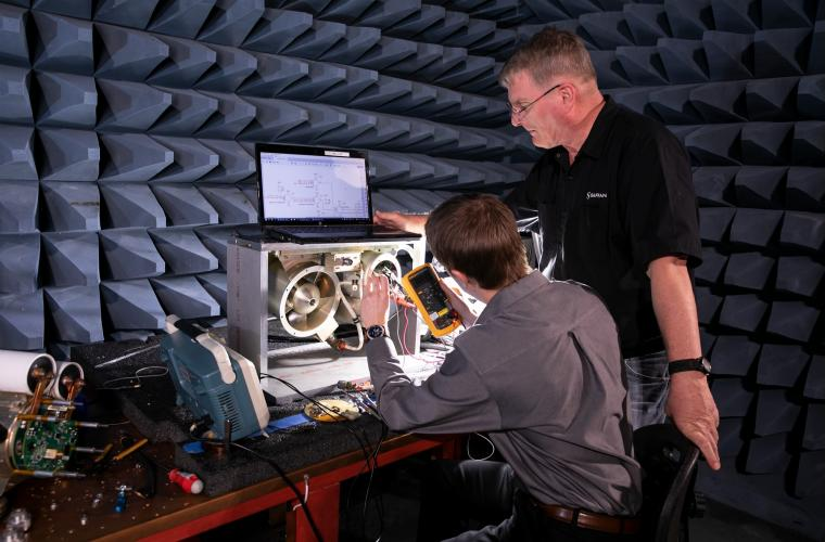 Setting up for EMI Testing (electromagnetic interference)