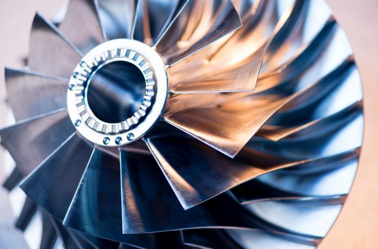 Close up of centrifugal compressor