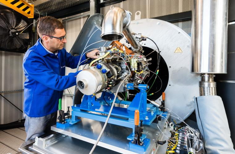 Test Bench expected to equip the Falcon 5X of Dassault Aviation