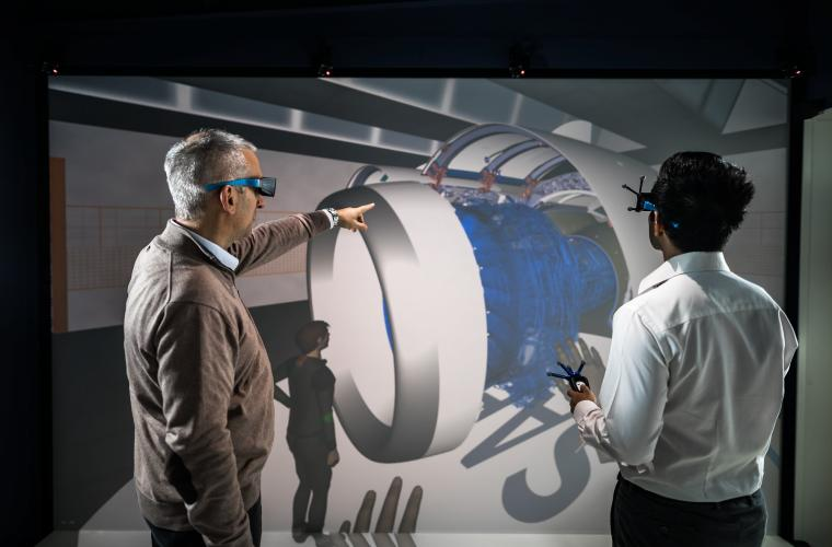 Virtual reality room - Simulation of maintenance and accessibility operations