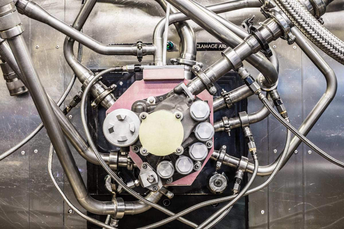 Lubrification unit test bench for LEAP engine