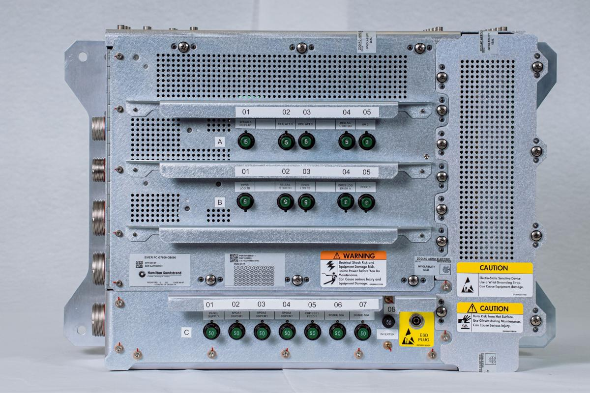 "Global 7500 Emergency Power Distribution Box (""Emer"" PC)"