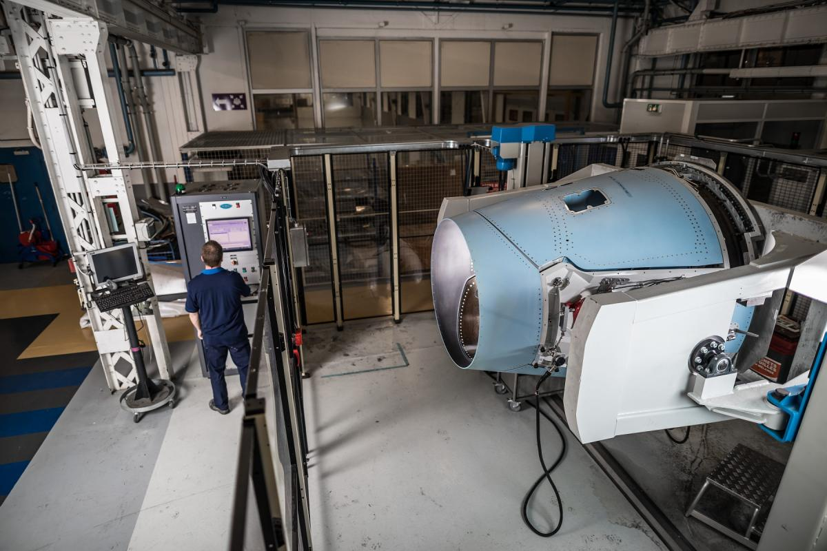 Test bench for the Passport engine nacelle (developing program)