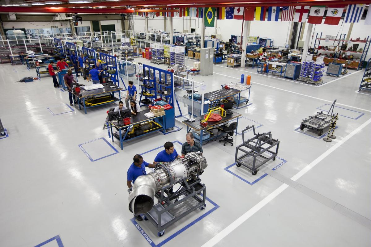 General view of installations at Safran Helicopter Engines Brasil Industria e Commercio