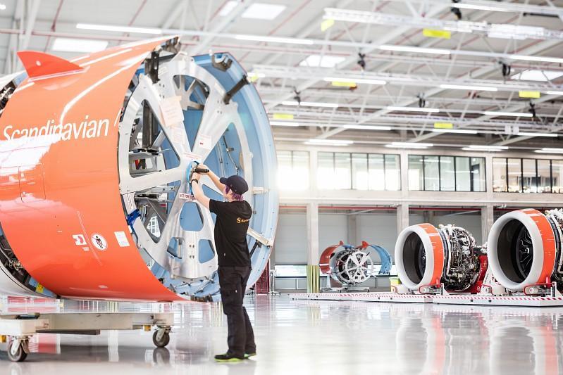 Intégration de la nacelle du moteur LEAP-1A équipant l'A320neo sur le site de Safran Nacelles à Hambourg