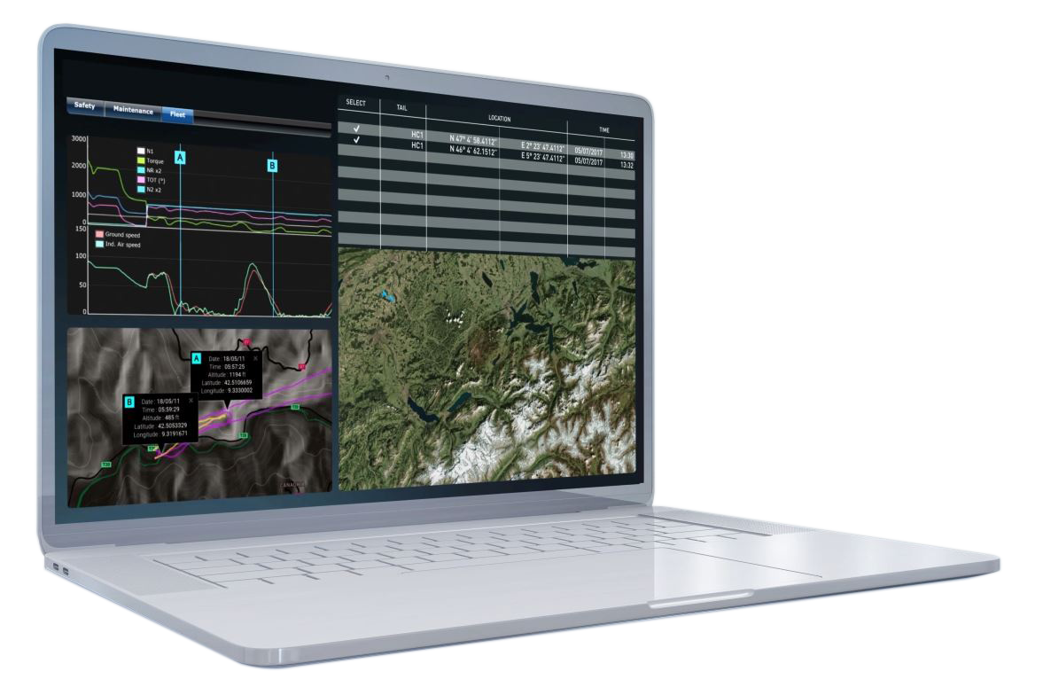 Cassiopée Helisafe - Solution for helicopter data monitoring