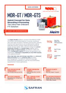 Airborne & ground recorders - MDR-GT/MDR-GTS