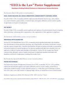 """""""EEO is the Law"""" Poster Supplement - Safran USA"""