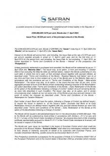 Obligations émises le 11 avril 2014 – Prospectus (anglais seulement)