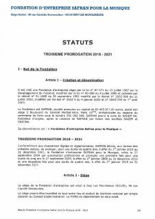 Statuts Fondation Safran pour la Musique