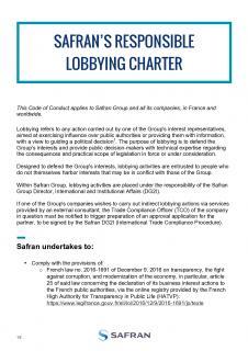 Safran's responsible lobbying charter