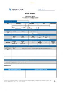 Event reports form - Safran Power Units